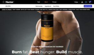 hunter burn website