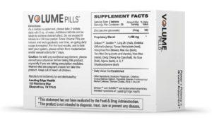 volume pills label